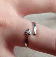 925 Silver Plated  Heart Wrap Ring  / Thumb Ring - Adjustable - Ladies gifts