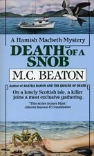 Death of a Snob (Hamish Macbeth Mysteries, No. 6) by Beaton, M.C., Good Book