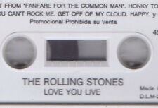 "THE ROLLING STONES ""LOVE YOU LIVE"" RARE SPANISH PROMO CASSETTE / JAGGER RICHARDS"