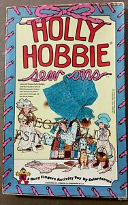 "1975 COLORFORMS & AMERICAN GREETING ""HOLLY HOBBIE SEW ONS"" LACE & DRESS SET"