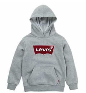 Levi's Boys' Youth Sweatshirt Pullover Hoodie - Size Medium (7/8) - Gray - New