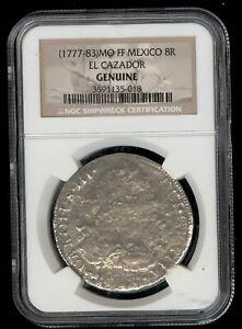 (1777-83) Mo FF Mexico 8 Reales El Cazador Shipwreck Coin NGC Certified