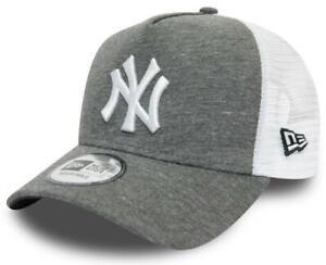 NY Yankees New Era Jersey Grey A-Frame Trucker Cap