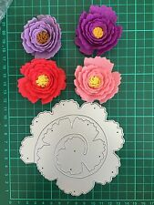 "D040 5"" Quilling Roll Up Flower Cutting Die For Sizzix Spellbinders Ect.Machine"
