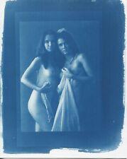 Two (2) Nude Females / Cyanotype Original Fine Art Photograph by Mark Hamilton