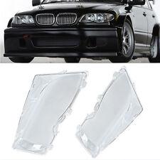 Faro coperture in plastica lente sinistra+destra misura per BMW 3serie E46 01-06