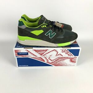 New Balance 998 J.Crew Made in USA Sneaker Men's Size 11 Green Gray M998JL3