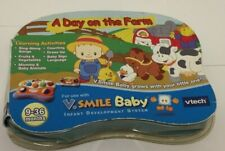💚 VTECH V Smile Baby Day on the Farm Learning Video Game Educational New F8