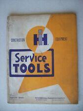 Original International ~ Service Tools Construction Equipment ~ Manual 1964