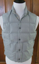 VINTAGE TEMPCO MENS SZ S GRAY NYLON GOOSE DOWN INSULATED SNAP FRONT PUFFER VEST