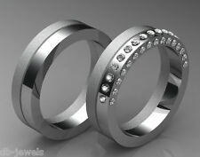 Pair of Wedding bands 14k SELECT YELLOW or  WHITE or ROSE GOLD DA556