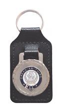 MacLaren Scottish Clan Black Leather & Enamel Key Fob