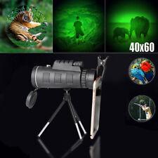 Day&Night Vision 40X60 Zoom HD Optical Monocular Telescope Tripod Phone Holder
