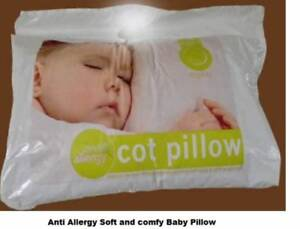 SOFT ANTI ALLERGY BABY COT PILLOW  **FREE PILLOW CASE**