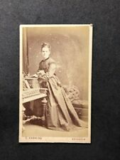 Victorian Carte De Visite CDV: Lady: Hawkins: Brighton: Musical Ornate Piano