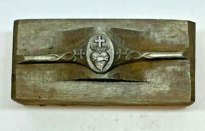 Rare Antique Victorian RELIGIOUS RING Jewelry Mold Hub Hob Steel Silversmith