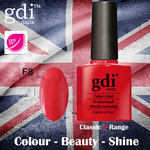 UK SELLER Gdi Nails CLASSIC Range F08 UV/LED Gel Soak Off nail polish