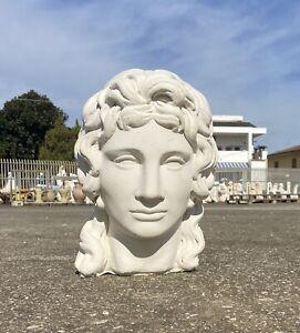 Statua Mezzo Busto Gesso Ulisse Odisseo Bianco