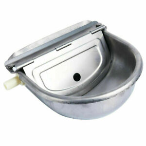 Stainless Steel Automatic Dog Waterer Bowl Farm Water Trough Auto Drinking Bowl