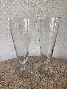 Pilsner Beer Glasses, Vintage '80s