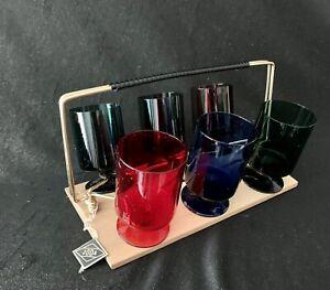 Vintage Original JODA Gläserset im Ständer 50er 60er Jahre Glas Barset Set