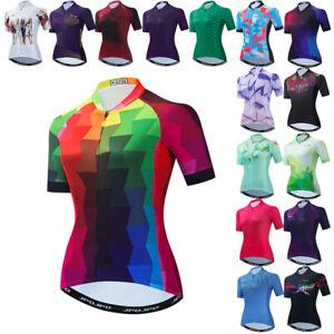 Women Cycling Jersey Bicycle Clothing Bike Short Sleeve Bike T-Shirt Tops S-3XL