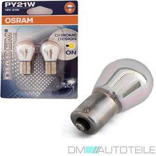 2x OSRAM PY21W Chrom Blinker Birne Leuchtmittel Glühbirne Diadem Chrome BAU15s