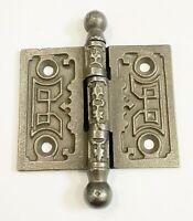 "Antique 3"" x 2 1/2"" Ornate Cast Iron Door Hinge Architectural Salvage Hardware"