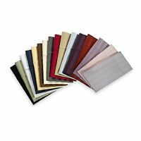 """Soft Quality *2 Qty Pillow Case 1000 TC Egyptian Cotton Solid/Stripe Color"