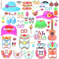 60pcs Hawaiian Photo booth Props for Summer Pool Beach Party Decoration Supplies