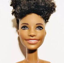 Nude Model African American Barbie Doll short hair teeth brown eyes small chest