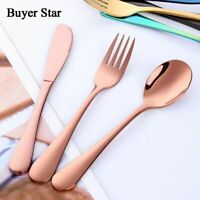 Colorful Tableware Cutlery Set 3 Pcs Stainless Steel Dinner Knives Forks Sets