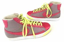 Nike Blazer High Shoes Size 10  Women Hi Top Fashion Sneakers Aster Pink Yellow