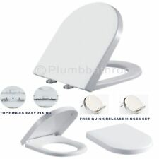 D Shape Luxury Top Fix Quick Release Soft Close Toilet Seat