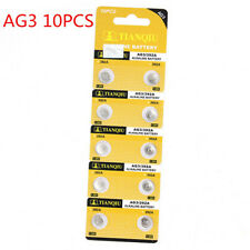 10PCS AG3 LR41 392 SR41 192 1.5V Alkaline Button Coin Cells Watch Battery New HS