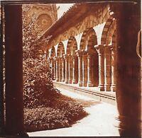 Il Puy Chiostro Abbaye Francia Placca Da Lente Stereo Positive Vintage