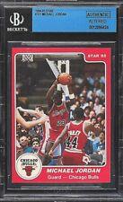 BGS AUTHENTIC MICHAEL JORDAN 1984 STAR #101 ROOKIE RC BASKETBALL CARD BVG 84-85