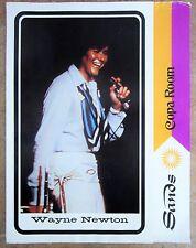 Vintage 1970s Las Vegas WAYNE NEWTON The COPA ROOM SANDS HOTEL & CASINO MENU reg