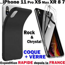 COQUE HOUSSE SILICONE POUR IPHONE 6 5 7 8 X XR MAX XS PROTECTION ANTICHOC SOUPLE