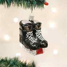 *Hockey Skates* [44046] Old World Christmas Glass Ornament- NEW
