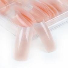 100 pc/box Nude Pink Half Nail Tips French Manicure Salon Acrylic Nail Art  UK