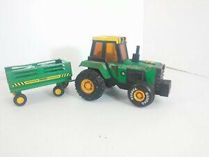 Vitage Buddy L Toy Green Tractor w/ Trailer or wagon Plastic & metal 1988