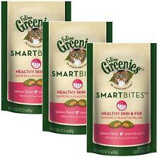 Feline Greenies Smartbites Healthy Skin & Fur 2.1 oz Salmon | 3 PACK Cat Treats