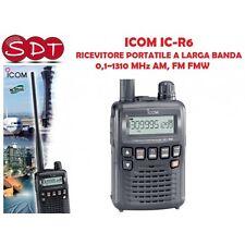 ICOM IC-R6 RICEVITORE PORTATILE A LARGA BANDA  0,1~1310 MHz AM, FM FMW