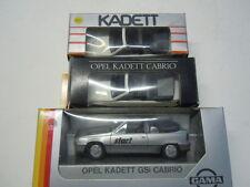 3 rare Opel Kadett E GSi Cabriolet Modelle von Gama in 1:43 OVP neu