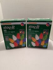 Sylvania Staylit Platinum 50Count LED C9 Lights MultiColor 2 Pack