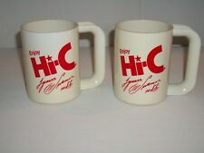 "(2) Vintage Plastic Drink Mugs ~ ""Enjoy Hi-C"" ~ Lynn Swann ~ Steelers #88 ~ NOS"