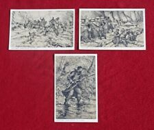3 WWI BELGIUM ARMY INFANTRY, ARTILLERY & CHAPLAINS ALFRED BASTIEN ART POSTCARDS