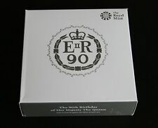 2016 Royal Mint Queens 90th Birthday UK £5 Five Pound Silver Proof Coin Box Coa