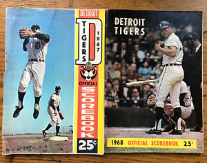 1967 1968 Detroit Tigers Score Books vs BALTIMORE KANSAS CITY